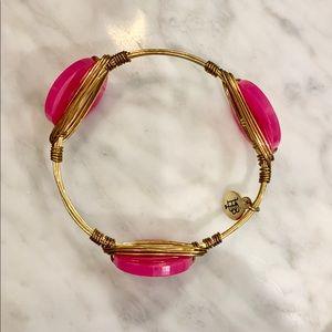 Bourbon and Boweties Pink Flamingo Gold Bangle